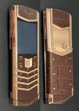 Верту Vertu Signature S Design Brown Crocodile with Rose Gold реплика | Фото 1