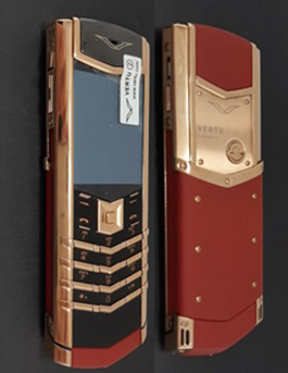 Верту Vertu Signature S Design Black + Red with Rose Gold реплика | Фото 1
