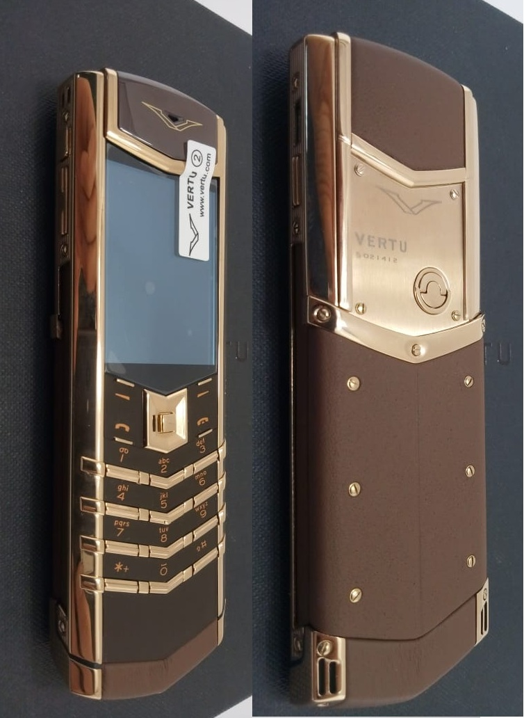 Верту Vertu Signature S Design Brown + Gold реплика | Фото 1
